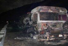 Photo of Beton mikseri alev alev yandı
