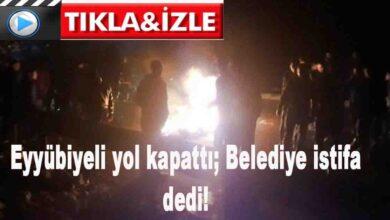Photo of Eyyübiyeli yol kapattı; Belediye istifa dedi!