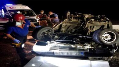 Photo of Kaldırıma çarpan otomobil takla attı: 1 ölü