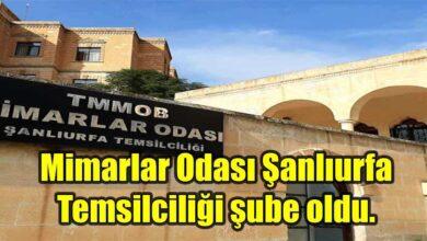 Photo of Mimarlar Odası Şanlıurfa Temsilciliği şube oldu.