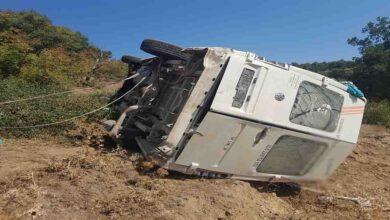 Photo of Minibüs şarampole devrildi: 14 yaralı