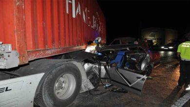 Photo of Otomobil tırın altına girdi: 1 ölü, 3 yaralı