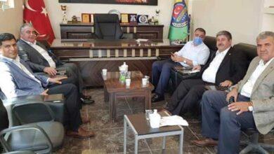 Photo of Başkanlar, Özyavuz'u Makamında Ziyaret Etti