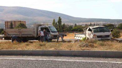 Photo of kamyonetler çarpıştı: 2 yaralı