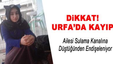 Photo of Urfa'da Kayıp! 18 Yaşındaki Genç Kız Suda Mı Kayboldu