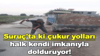 Photo of Suruçtaki'ki çukur yolları halk kendi imkanıyla dolduruyor