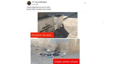 Photo of Suruç Belediyesi; Suruçlular çöpleri yere atıyor