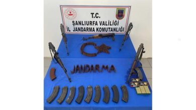 Photo of Şanlıurfa'da 5 kalaşnikof tüfek ele geçirildi