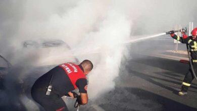 Photo of Urfa'da Seyir Halindeki Otomobil Alev Aldı