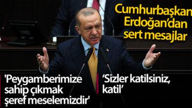 Photo of Cumhurbaşkanı Erdoğan'dan Tepki