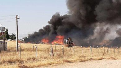 Photo of Şanlıurfa'daki Çadır kentte yangın