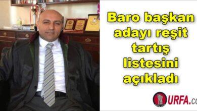 Photo of Baro başkan adayı reşit tartış listesini açıkladı