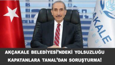 Photo of Urfa'da yolsuzluğu kapatanlara Tanal'dan soruşturma!
