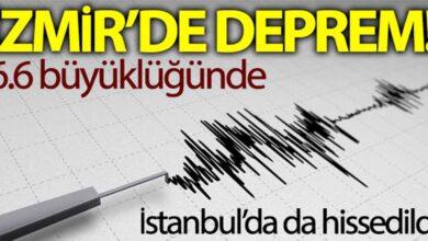 Photo of İzmir'de 6.6 büyüklüğünde deprem!