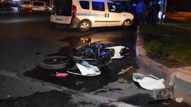 Photo of Otomobille çarpışan motosiklet hurdaya döndü