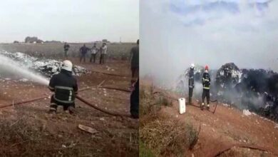 Photo of Urfa'da Pamuk yığını alev alev yandı