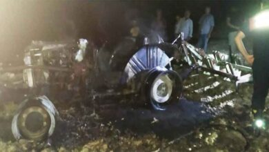 Photo of Şanlıurfa'da alev alan traktör yanarak küle döndü