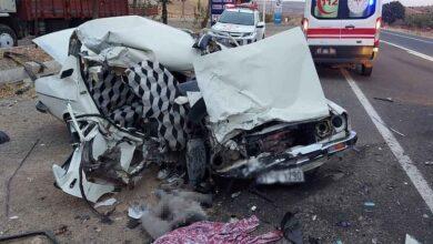 Photo of Şanlıurfa'da trafik kazası : 2 ölü, 1 yaralı
