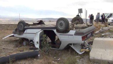 Photo of Virajı alamayan otomobilşarampoledevrildi:8yaralı
