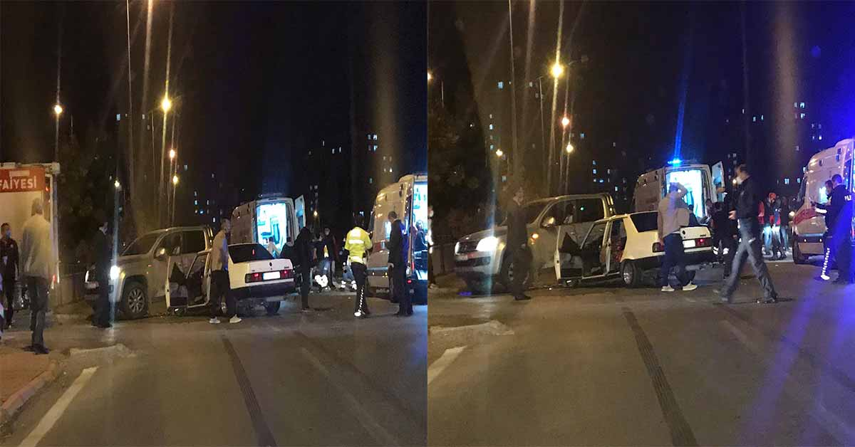 trafik kazasi 10 yaralı