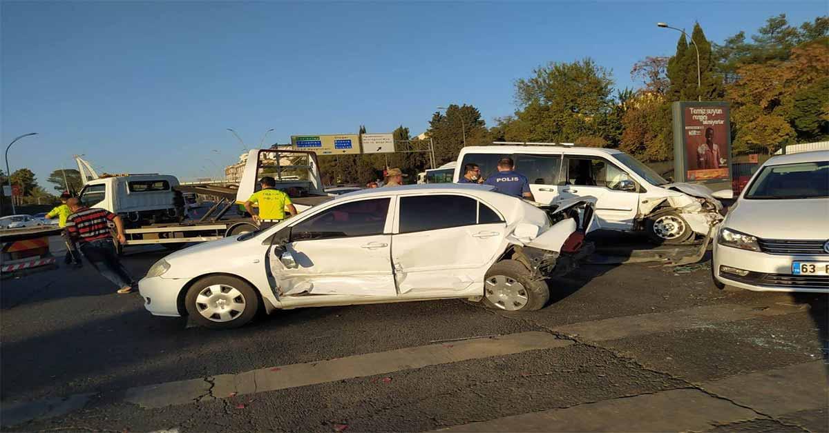 urfa trafik kazası 5 araç birbirine girdi