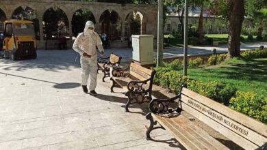 Photo of Şanlıurfa'da tarihi mekanlar dezenfekte edildi