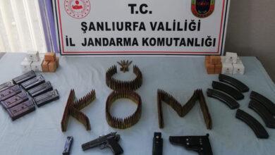 Photo of Urfa'da Çok Sayıdıa mermi, tabanca, ele geçirildi