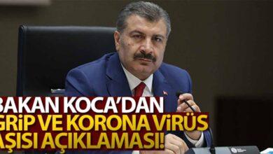 Photo of Bakan Koca'dan aşı ile ilgili açıklama!