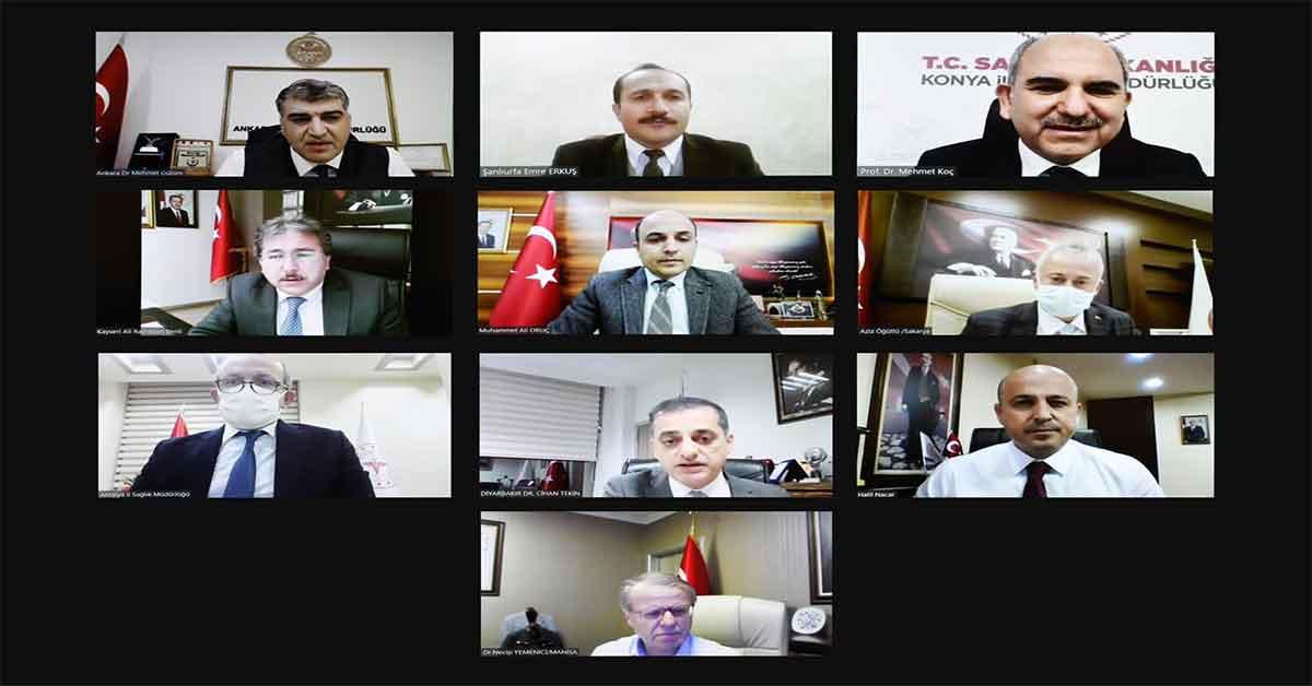 Bakan Koca Urfa il sağlık müdürü ile görüştü