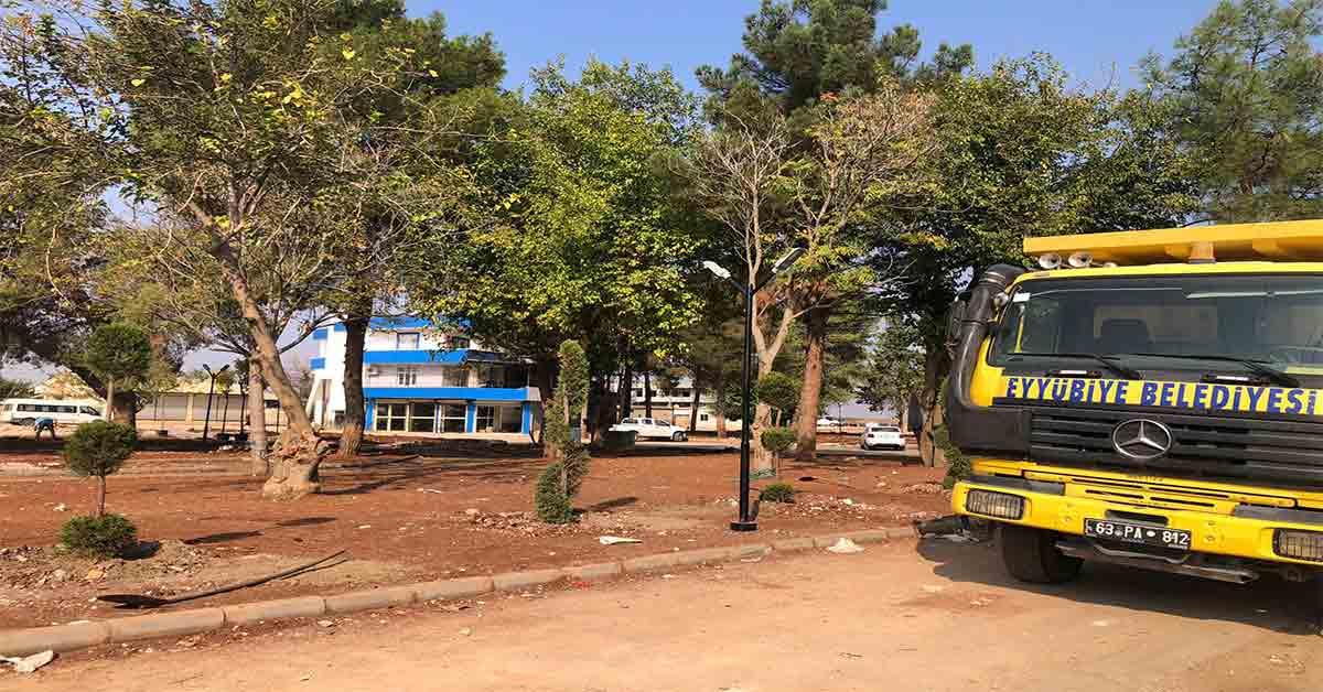Millet Bahçesi'nin Yapımı Sürüyor