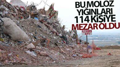 Photo of Bu moloz yığınları 114 kişiye mezar oldu