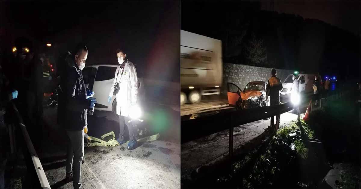 Otomobil, tıra arkadan çarptı: 1 ölü, 2 yaralı