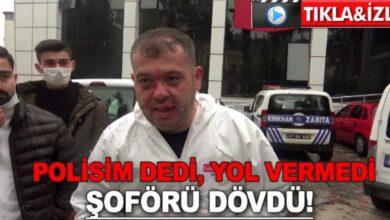 Photo of Polisim dedi ambulansa yol vermedi şoförü dövdü!
