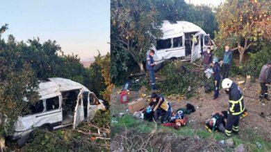 Photo of Tarım işçilerini taşıyan servis kaza yaptı