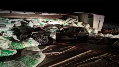 Photo of Tır otomobilin üzerine devrildi: 1 ölü