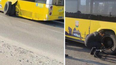 Photo of Urfa'da Belediye Otobüsünün Tekeri Çıktı