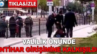 Photo of Valilik önünde intihar girişimi!