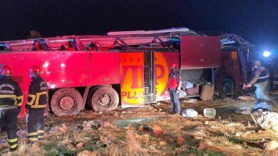 Photo of Urfa'da devrilen otobüsteki turistlerden biri öldü