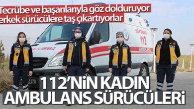 Photo of 112'nin kadın ambulans sürücüleri