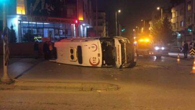 Photo of Antep'te Hasta Almaya Giden Ambulans Kaza Yaptı