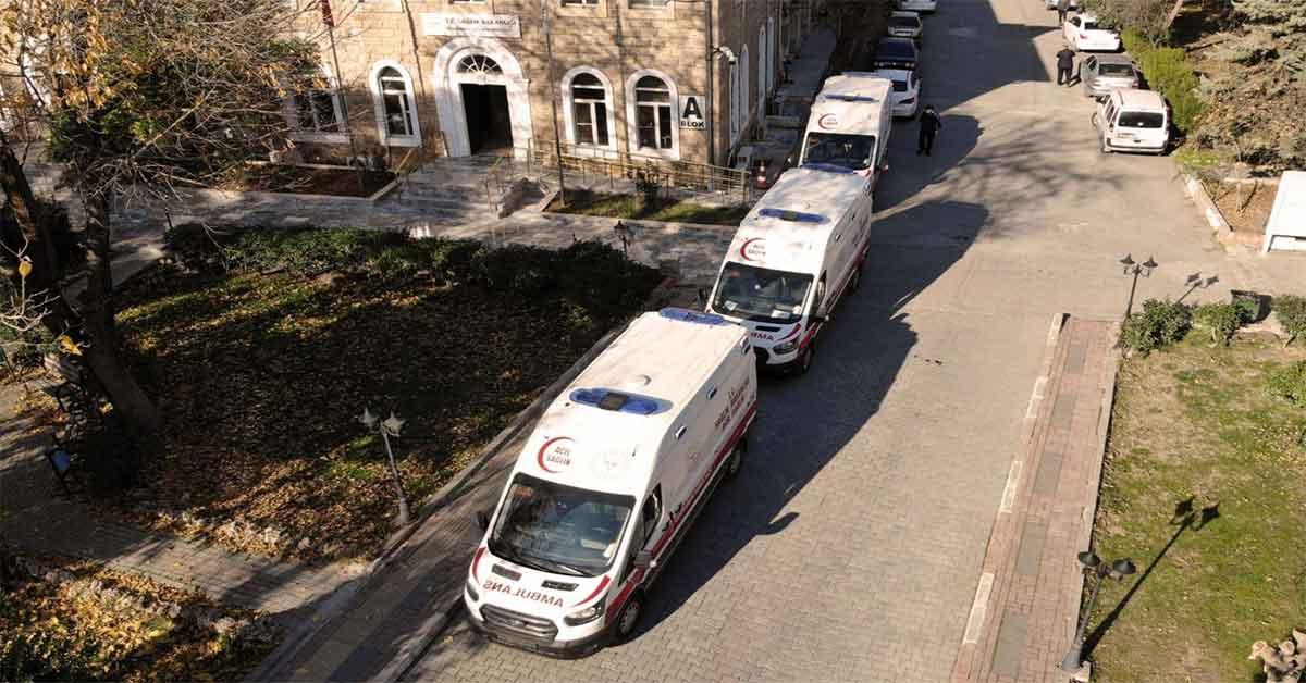 Sıralama birinci olan urfa'ya ambulans gönderildi