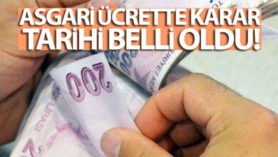 Photo of Asgari Ücrette karar tarihi belli oldu!