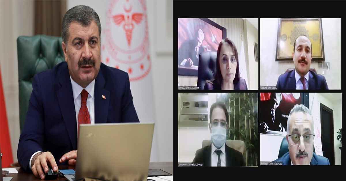 Bakan Koca Urfa İl Sağlık Müdürü İle Görüştü