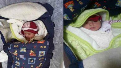 Photo of 1 aylık bebeği apartman kapısına terk ettiler