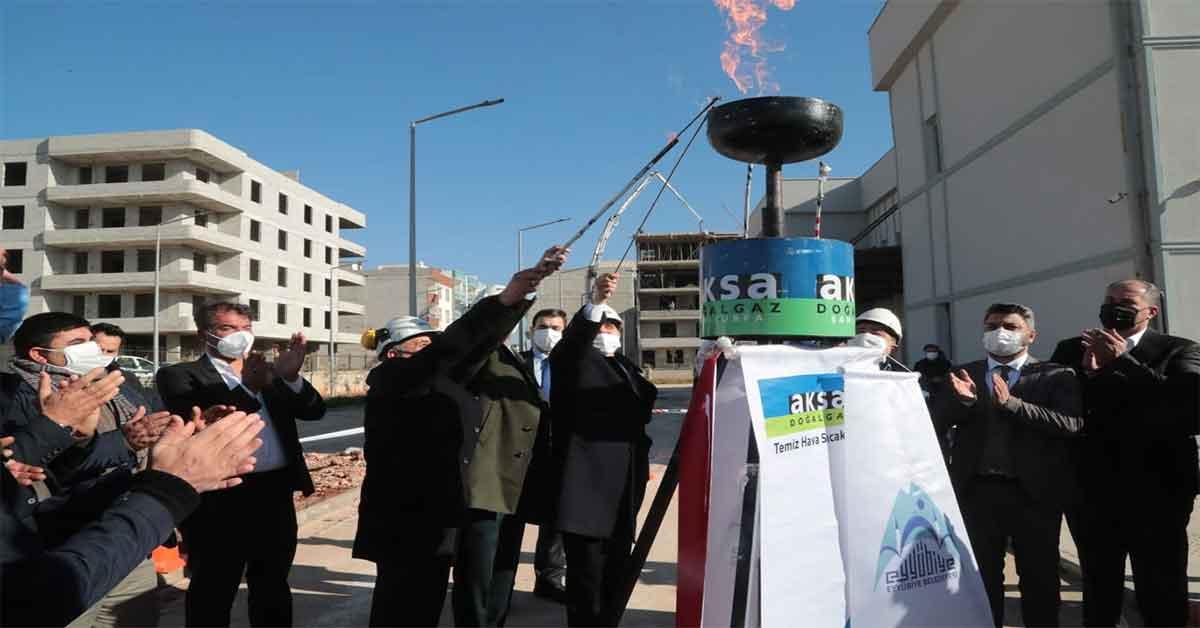 Eyyübiye doğalgaza kavuştu