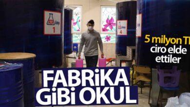 Photo of 'Fabrika gibi okul'dan 5 milyon TL ciro