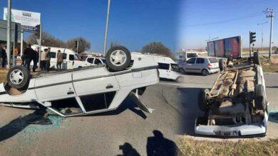 Photo of Urfa'da Araba Ters Döndü! 1 Yaralı