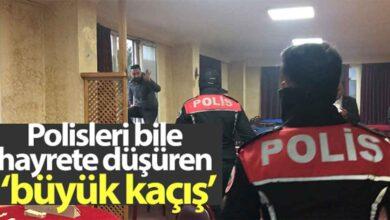 Photo of Polisler bile hayrete düşüren büyük kaçış