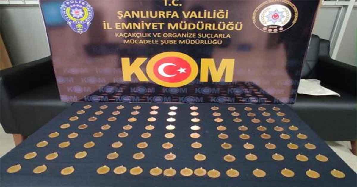 Urfa'da sahte Cumhuriyet altını ele geçirildi