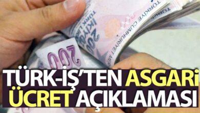 Photo of TÜRK-İŞ'ten asgari ücret açıklaması